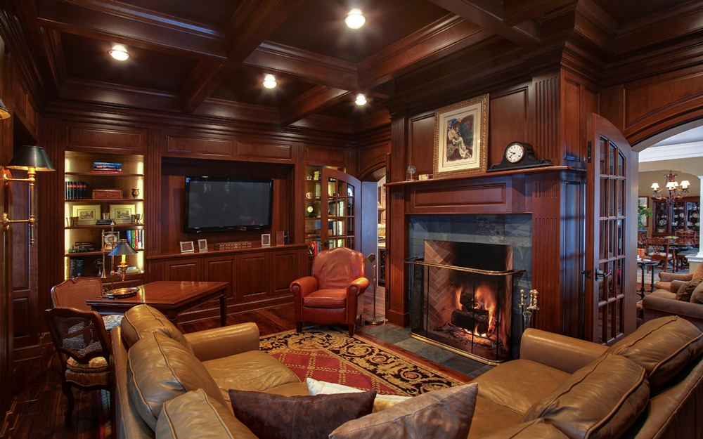 attractive living room of traditional french country home   French Country Retreat // Martin Brothers Contracting