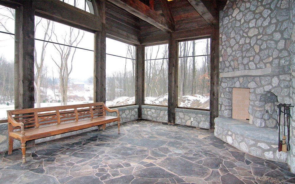 Rustic country estate martin brothers contracting for Log cabin sunrooms